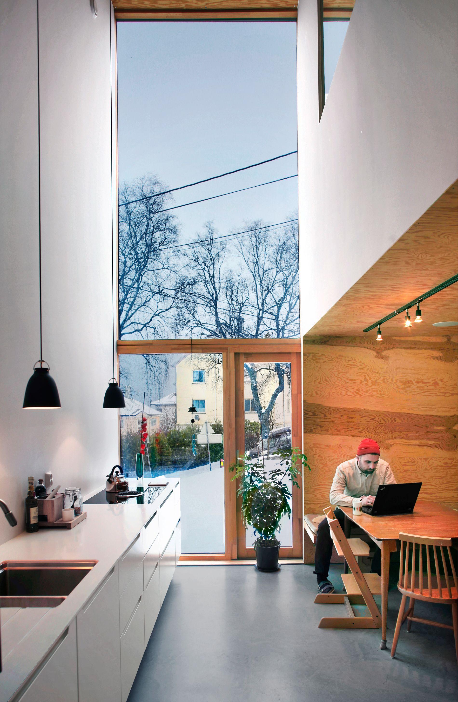 Arkitektparet ville at tomten og huset skulle bli billigere