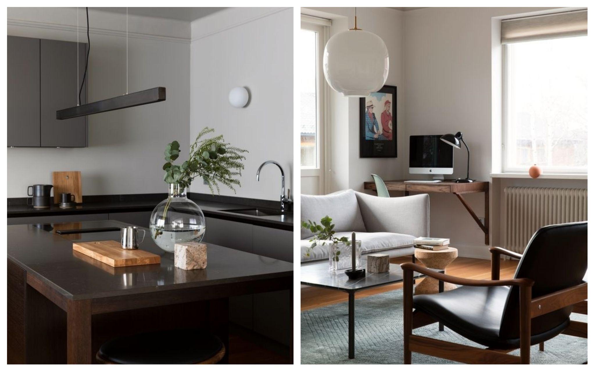 På arkitekturens premisser: Hjemmet er tilpasset den funksjonalistiske bygården og familiens liv